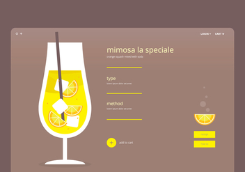 Mimosa Webpage Template - Free vector #401623