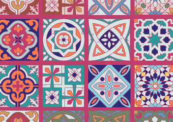 Azulejo Ornaments - бесплатный vector #401633