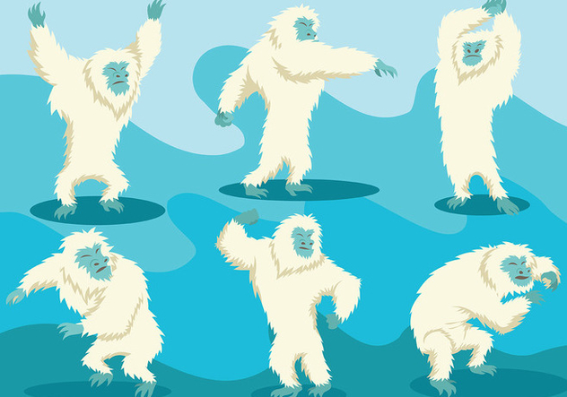 Free Yeti Icons Vector - Free vector #401643