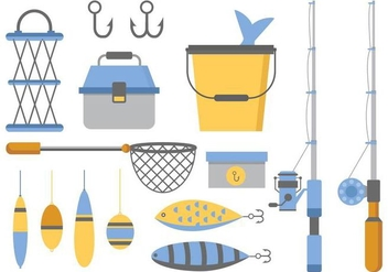 Free Fishing Icons Vector - vector gratuit #401703