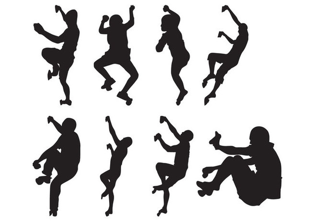 Free Climber Silhouettes Vector - Free vector #401723