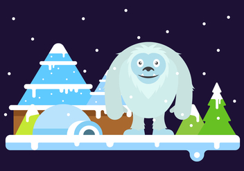 Free Cute Yeti Vector Illustration - бесплатный vector #401753