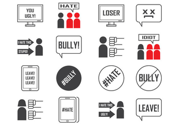 Free Social and Cyber Bullying Icon Vector - vector gratuit #401783