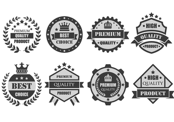 Custom Premium Badge Vectors - бесплатный vector #401843