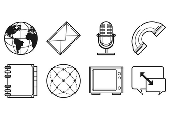 Free Media and Communication Icon Vector - Kostenloses vector #401893