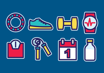 Exercise Vector Element Pack - Free vector #401933