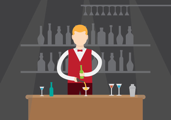 Free Illustration of Barman Vector - vector gratuit #402073