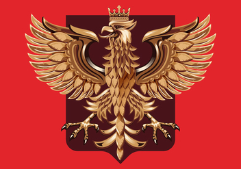 Wood Carving Polish Coat of Arm Vector - Free vector #402093