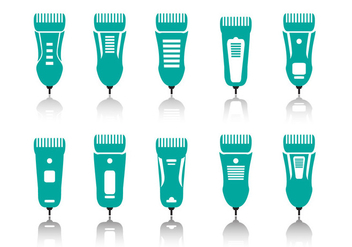 Hair Clippers appliances icons - vector #402163 gratis