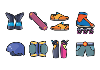 Free Skate Icon Pack - vector #402173 gratis