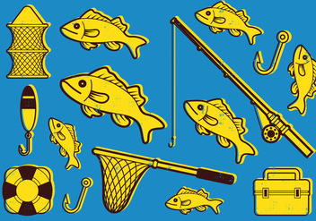 Fishing Icon Set - vector #402183 gratis