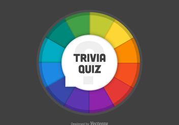 Free Trivia Quiz Wheel Vector - бесплатный vector #402193