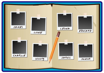 Yearbook kids note simple - vector #402273 gratis