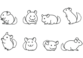Chinchilla Line Icon - vector gratuit #402433