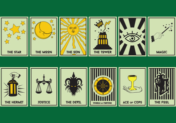 Set Of Tarot Card - Free vector #402523