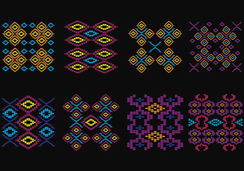 Songket Pattern - vector #402563 gratis