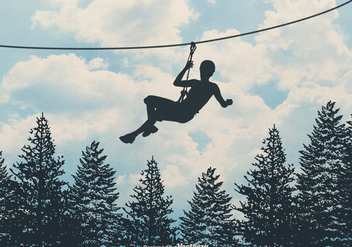 Free Zipline Vector Background - Kostenloses vector #402573