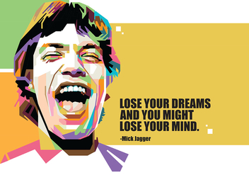 Mick Jagger in Popart Portrait - Free vector #402623