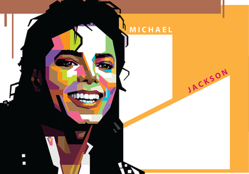 Michael Jackson in Popart Portrait - Free vector #402633