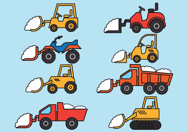 Snow Plow Vectors - бесплатный vector #402743