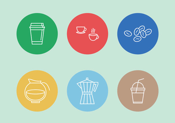 Vector Coffee Icons - vector gratuit #402793