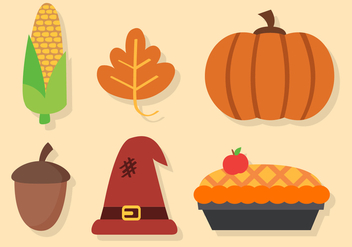Free Thanksgiving Elements Vector - vector gratuit #402893