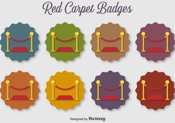 Velvet Rope Vector Flat Color Vector Icons - бесплатный vector #402953