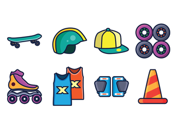 Free Skate Icon Pack - vector gratuit #402963