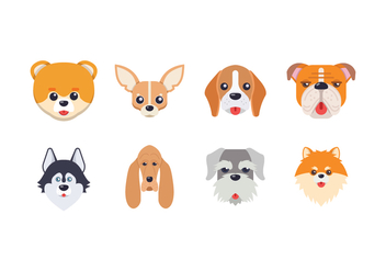 Free Dog Head Vector - Free vector #403003