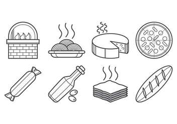 Free Italian Food Icon Vector - Free vector #403023