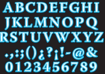 Roman Water Font - Free vector #403133