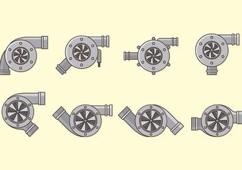 Set Of Turbocharger Vectors - бесплатный vector #403143