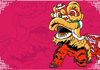 Lion Dance And Chinese New Year - бесплатный vector #403183
