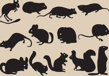 Rodent Silhouettes - Kostenloses vector #403253
