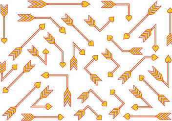 Orange Flechas Vector - Free vector #403303