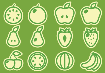 Pack of Fruit Vectors - vector gratuit #403323
