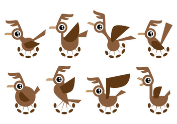 Free Cartoon Roadrunner Vector - Free vector #403353