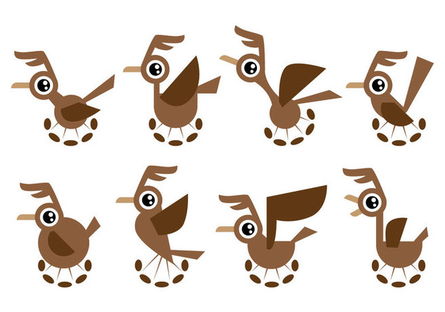 Free Cartoon Roadrunner Vector - vector gratuit #403353