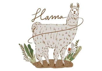Free Llama Background - Kostenloses vector #403583