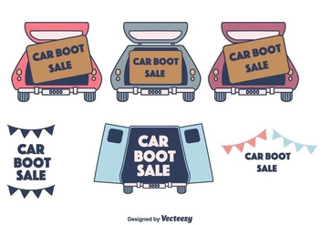Car Boot Sale - vector gratuit #403663