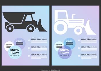 Free Snow Plow Vector Infographic - бесплатный vector #403743