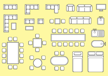 Free Floorplan Furniture Vector - Free vector #403753