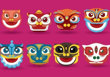 Free Lion Dance Vector - Free vector #403773