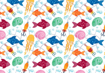 Free Fish Pattern Vectors - бесплатный vector #403823