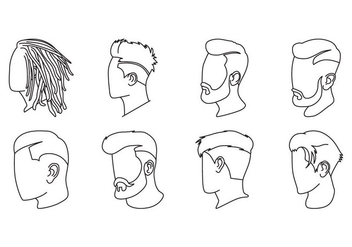 Free Men Hairstyle Icon Vector - Kostenloses vector #403853