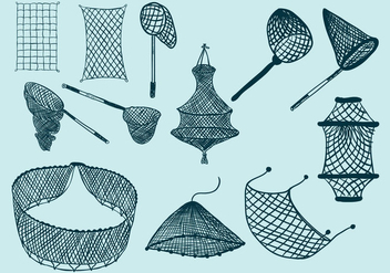 Fishing Net Icon - Kostenloses vector #403893