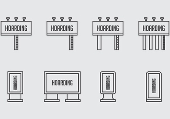 Hoarding Icons - Free vector #403973