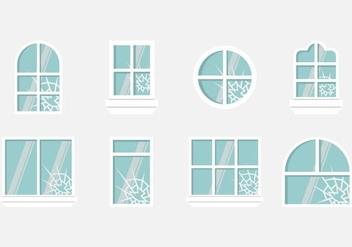 Shatter Window Vectors - vector gratuit #403983