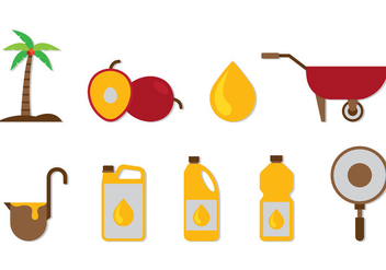 Set Of Palm Oil Icons - Free vector #403993