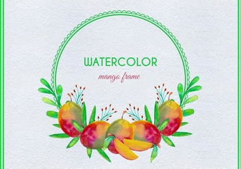 Free Vector Watercolor Mango Illustration - vector gratuit #404053